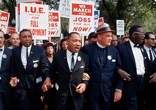 Martin Luther King with some IUE members