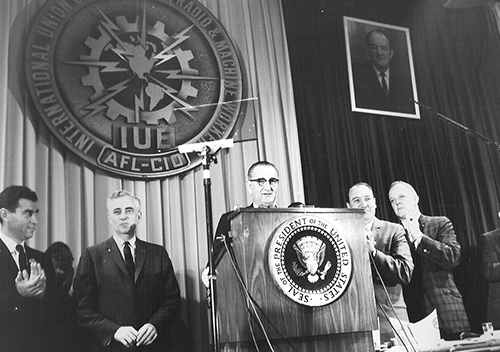 President Lyndon B. Johnson speach with James Carey
