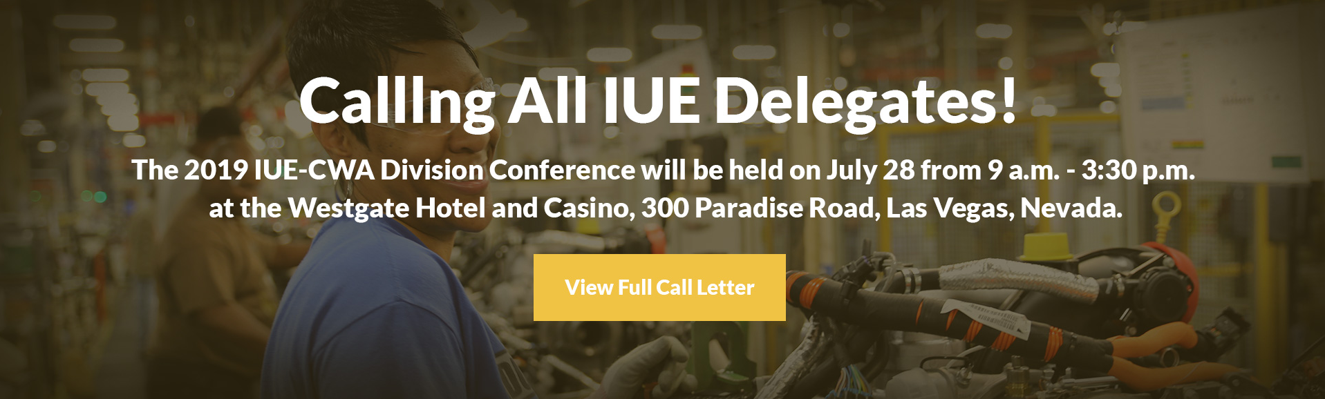 2019 IUE-CWA Division Conference Call Letter